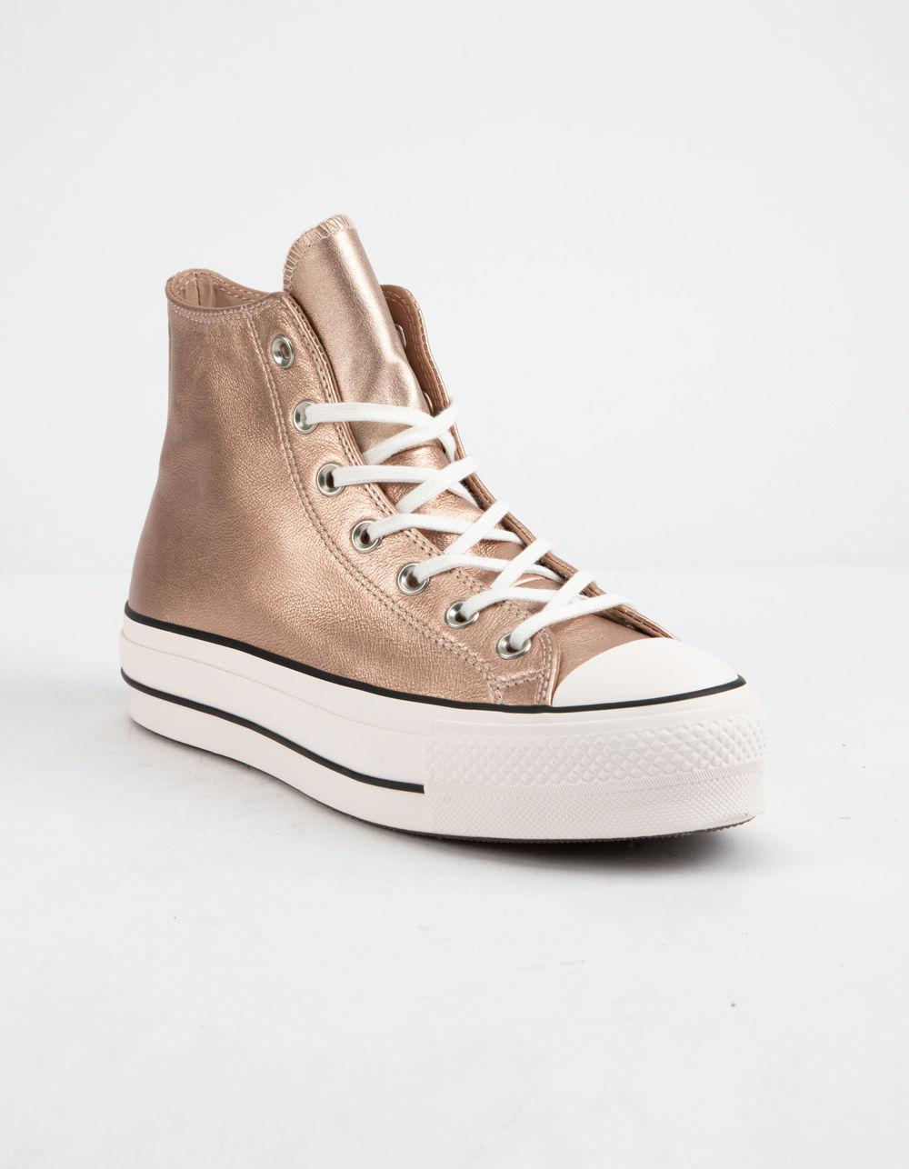 a538bfa3796341 Lyst - Converse Chuck Taylor All Star Lift Particle Beige   White Womens  High Top Shoes in Natural