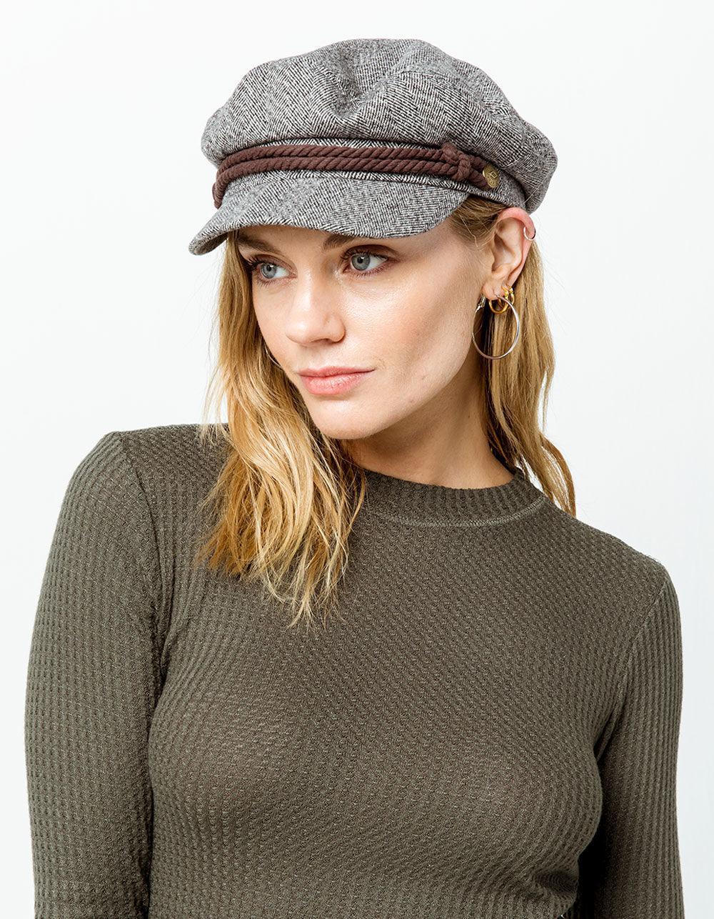 565a0e98b4413 Lyst - Brixton Heather Gray   Cream Womens Fiddler Cap in Gray