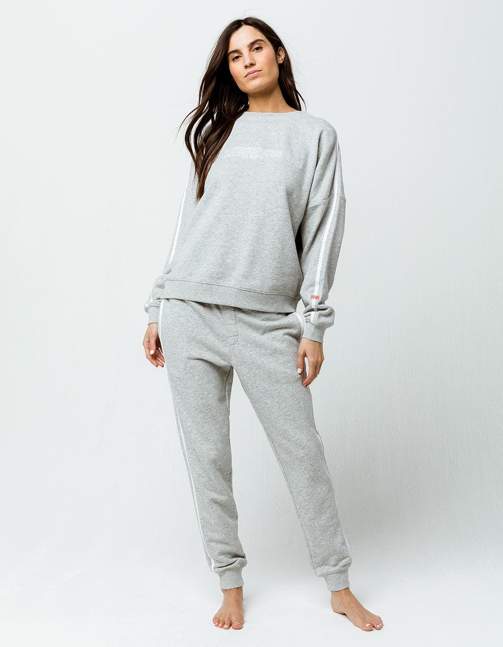 Calvin Klein - Black Lounge Heather Gray Womens Jogger Pants - Lyst. View  fullscreen 185990b95