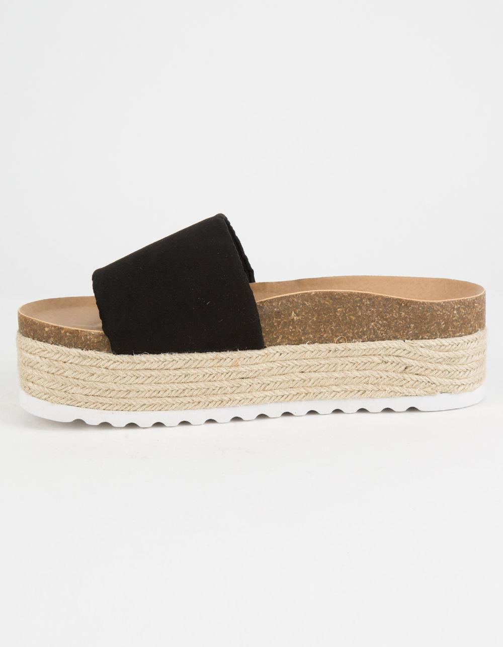 4e5f7cb520fd Lyst - Dirty Laundry Pippa Espadrille Black Womens Platform Sandals ...