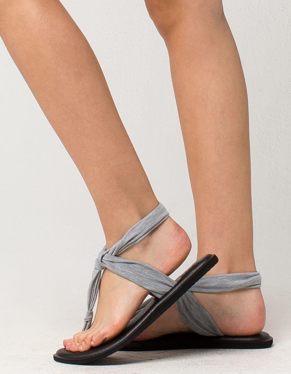 ce019a18cdb1 Lyst - Sanuk Yoga Sling Ella Womens Sandals in Gray