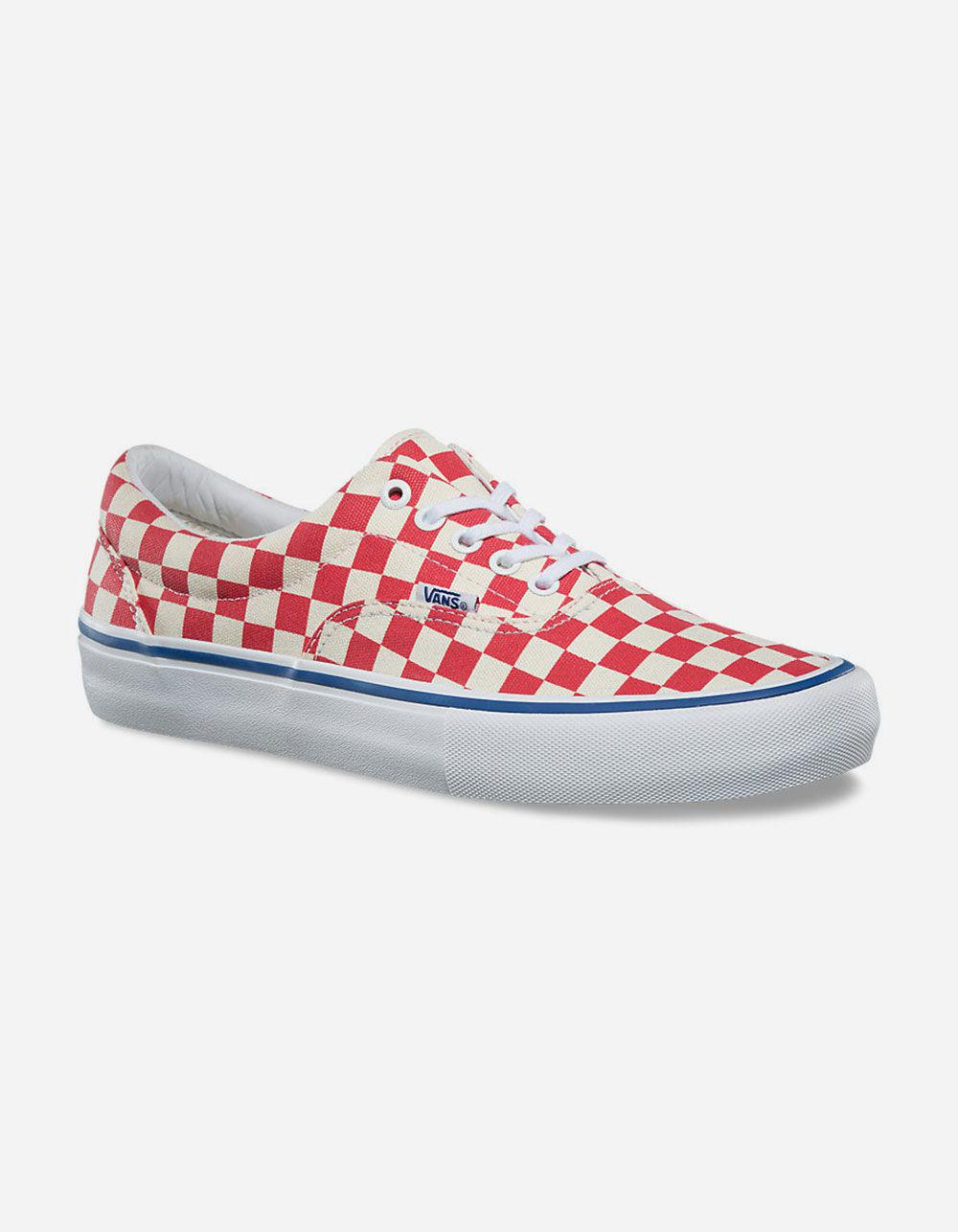 2633ab14e53e Lyst - Vans Checkerboard Era Pro Shoes in Red