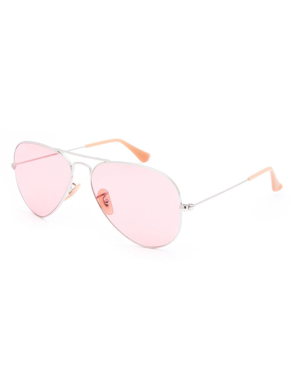 6df9ce9fe1 Lyst - Ray-Ban Aviator Evolve Silver   Pink Photocromic Sunglasses ...