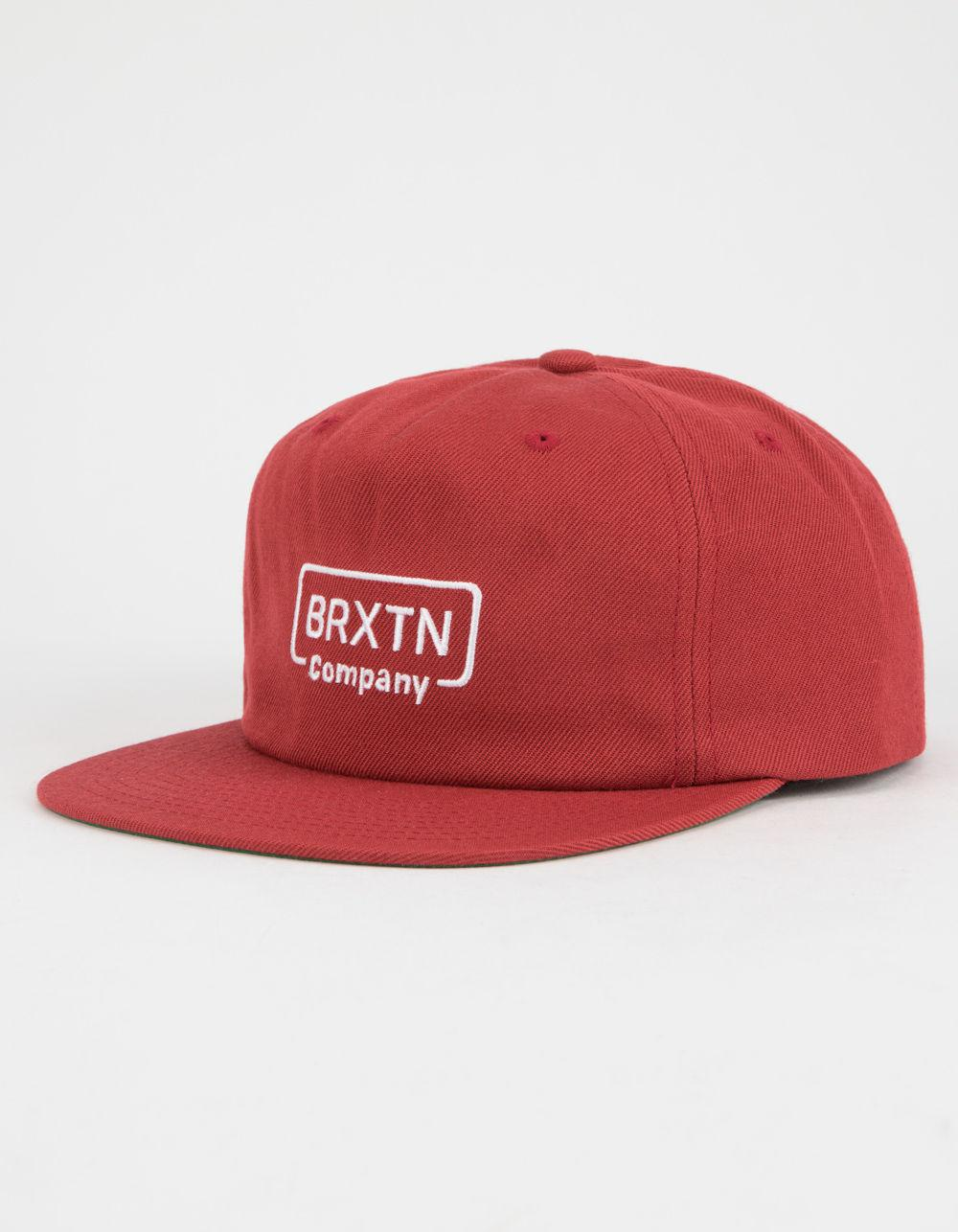 best service f663c bb5d9 ... discount code for lyst brixton crosswhite mens snapback hat in red for  men cf918 496e7