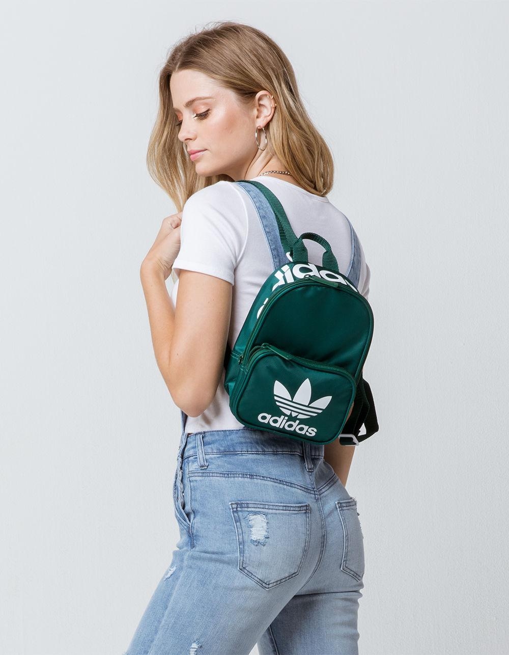 2fa75b90a278 Lyst - adidas Originals Santiago Green Mini Backpack in Green