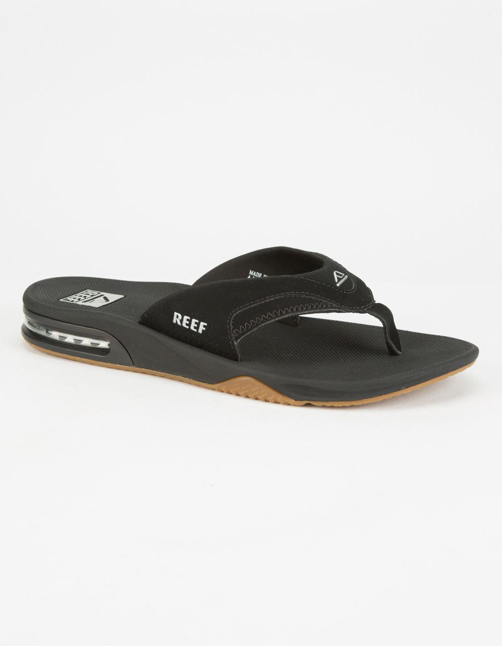 92053faf699 Reef - Black Fanning Mens Sandals for Men - Lyst. View fullscreen