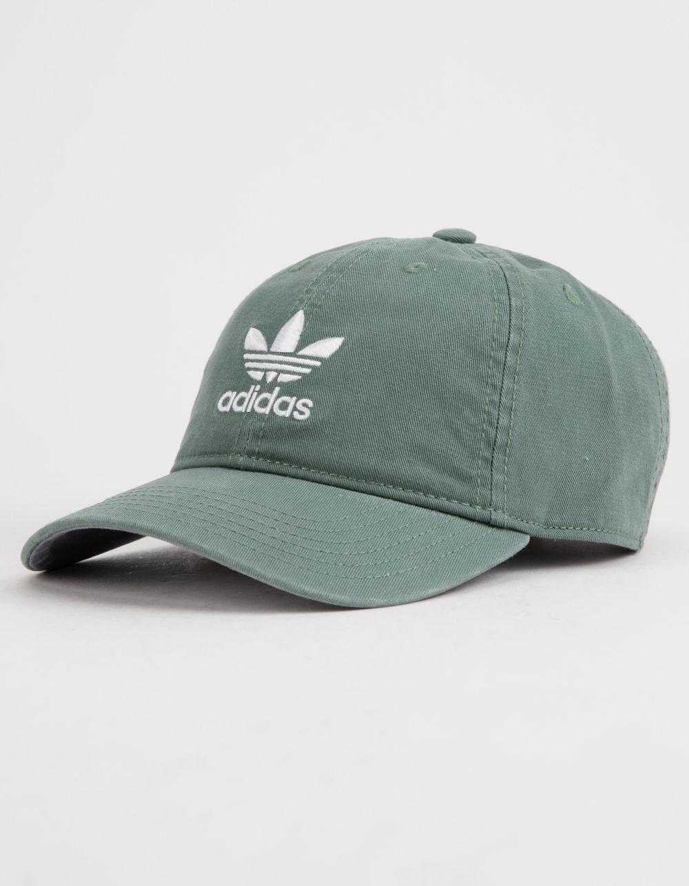 Adidas - Originals Relaxed Green Womens Strapback Hat - Lyst. View  fullscreen a77dca4945fc