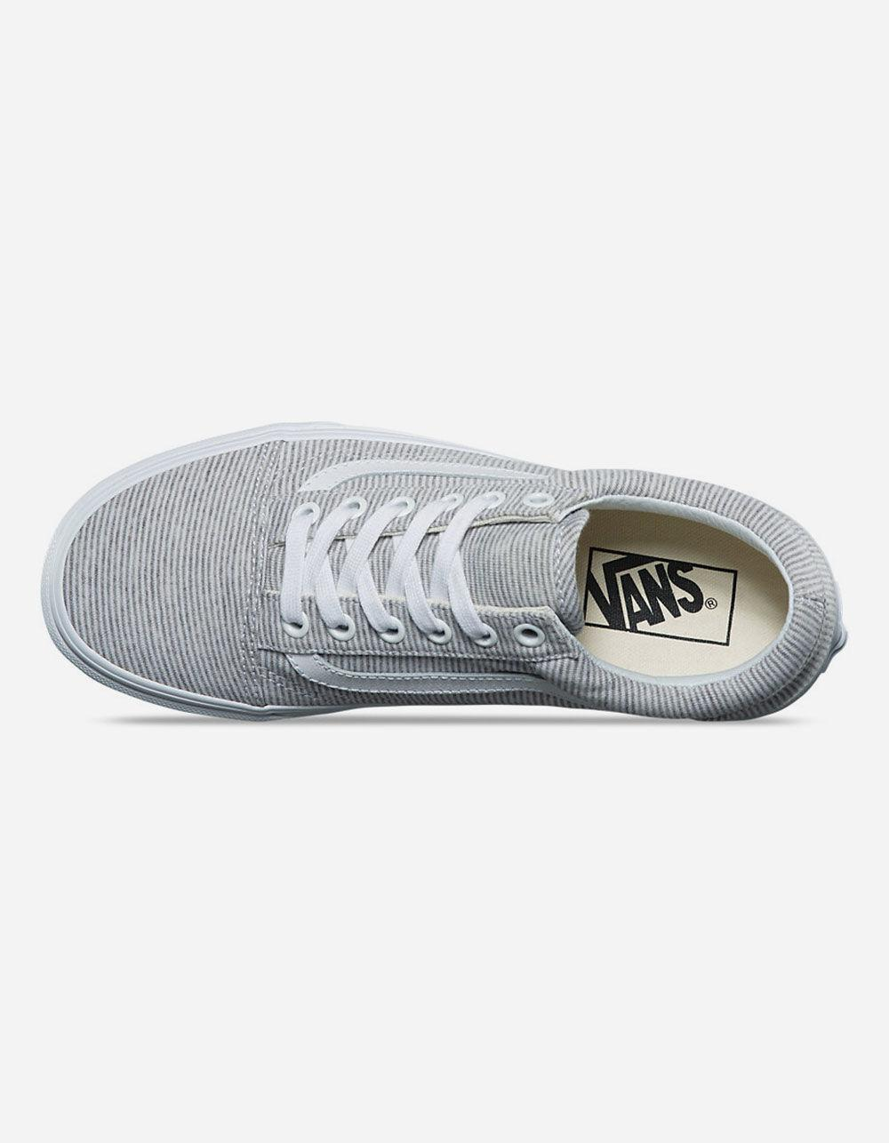 Lyst - Vans Jersey Old Skool Grey   True White Womens Shoes in Gray fdadb9576