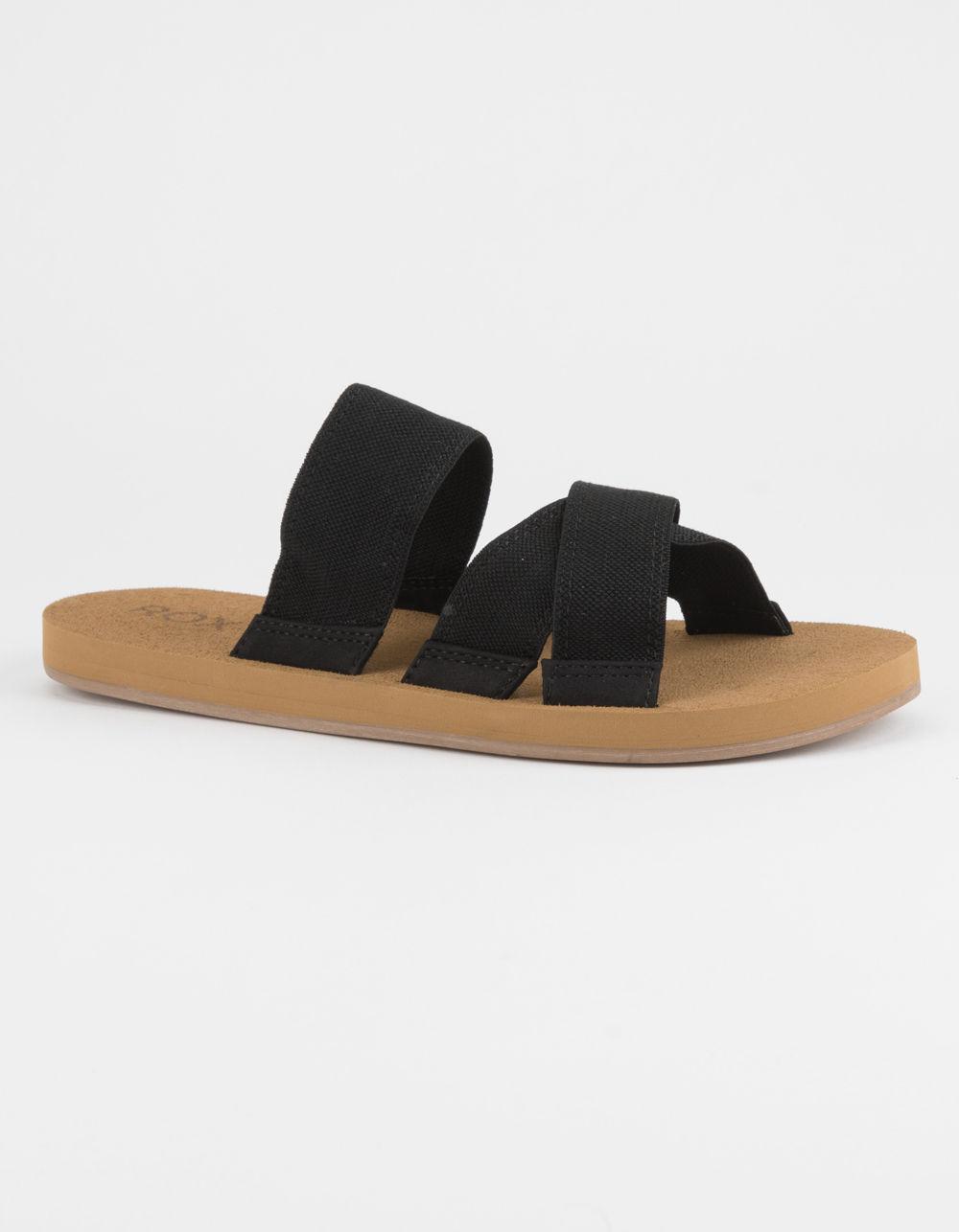1857f11d067f5c Lyst roxy shoreside black womens sandals in black jpg 1000x1286 Roxy womens  slippers