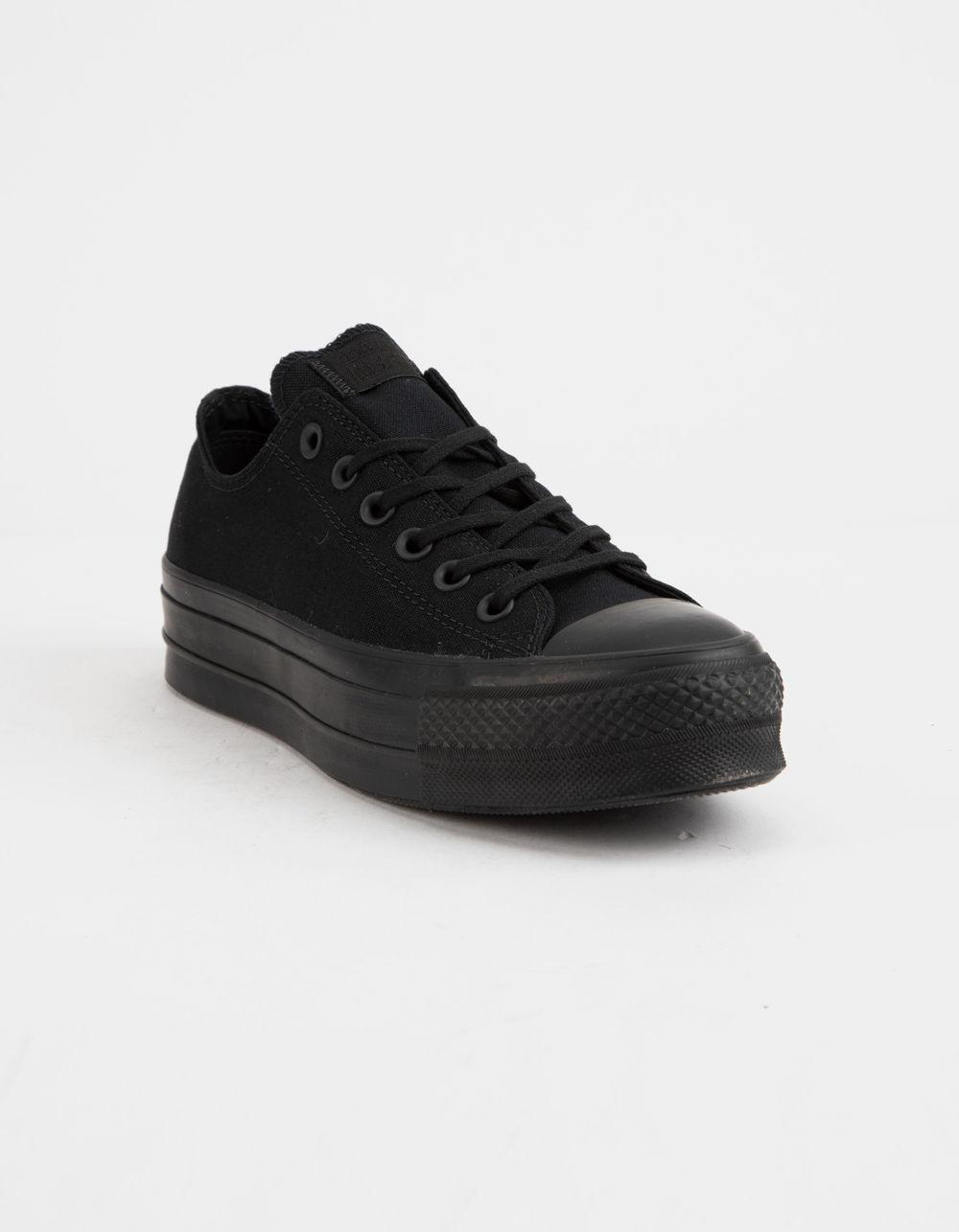 631c0e5fc99a Lyst - Converse Chuck Taylor All Star Clean Lift Black Womens Low Top Shoes  in Black - Save 59%