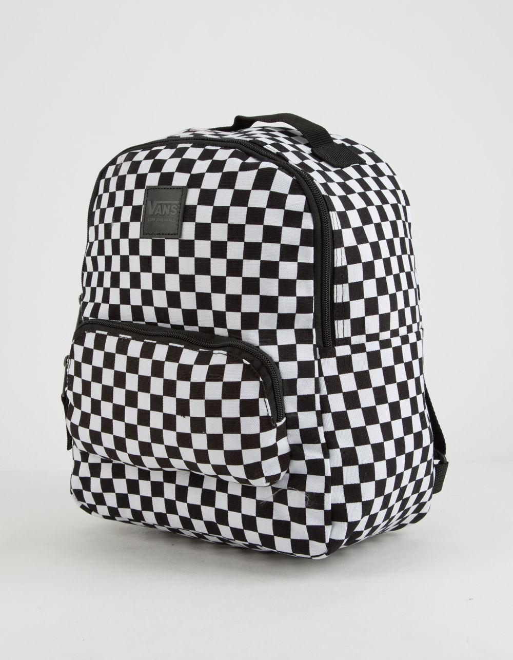 662ef546e6eb Lyst - Vans Checkered Mini Backpack in Black