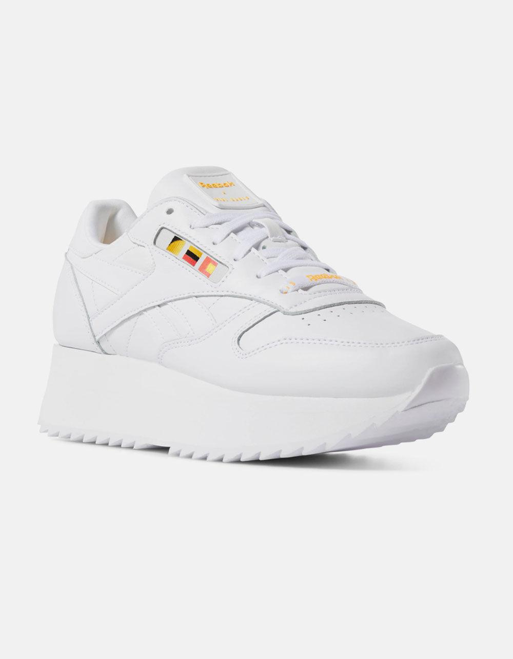 ad7fe228428 Lyst - Reebok X Gigi Hadid Classic Leather Double White Womens Shoes in  White