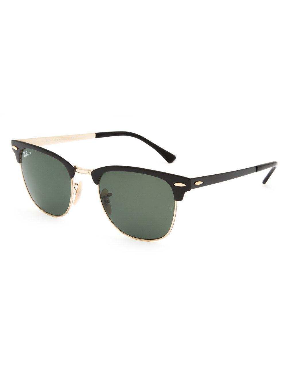 bd92f92b0c4 Ray-Ban. Men s Clubmaster Metal Black   Green Classic Polarized Sunglasses