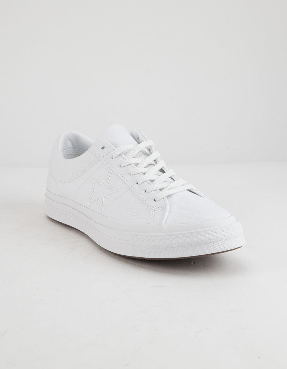 17e509832ff0 Lyst - Converse One Star Ox White Low Top Shoes in White