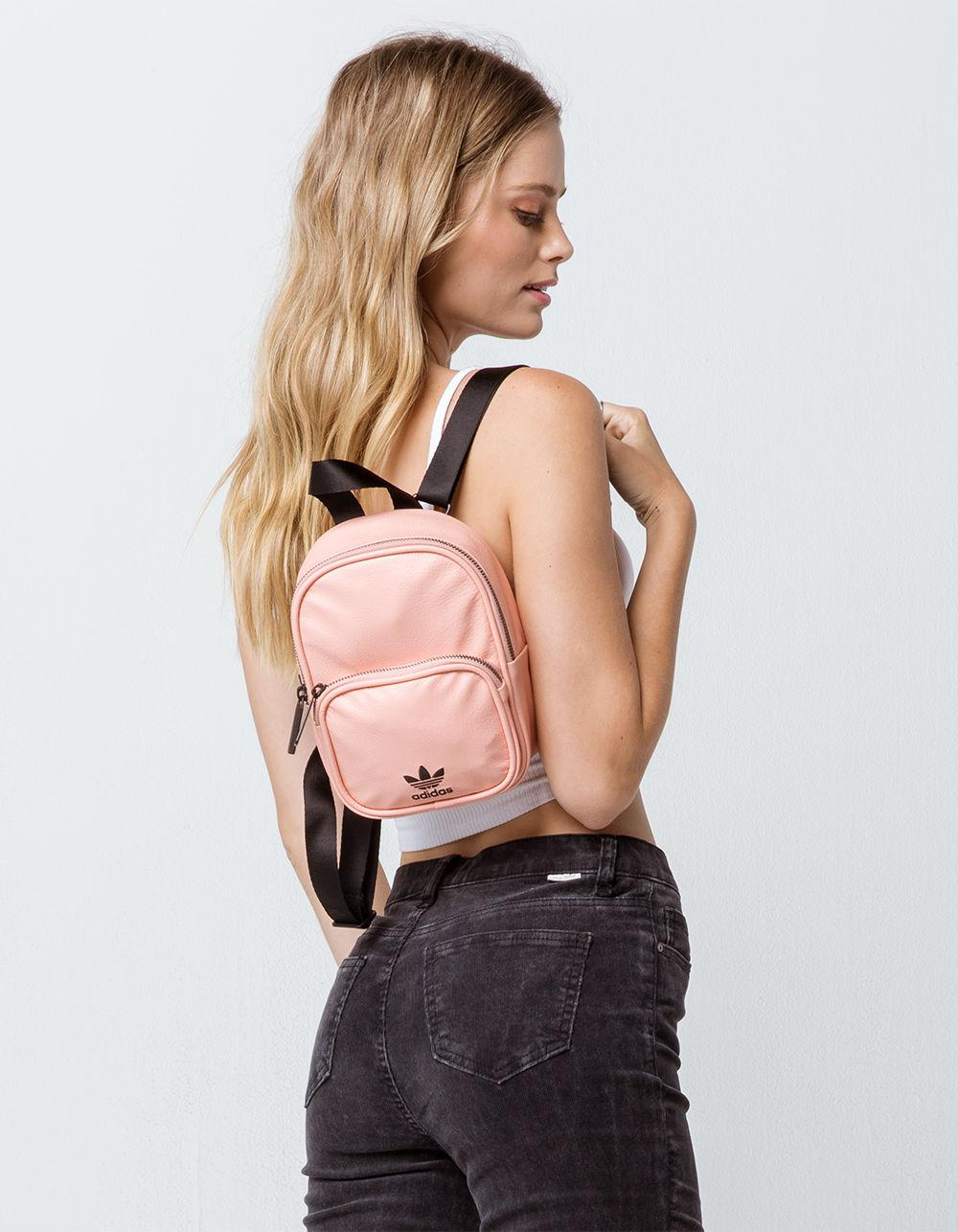 9b7ba12a635c Lyst - adidas Originals Faux Leather Pink Mini Backpack in Pink
