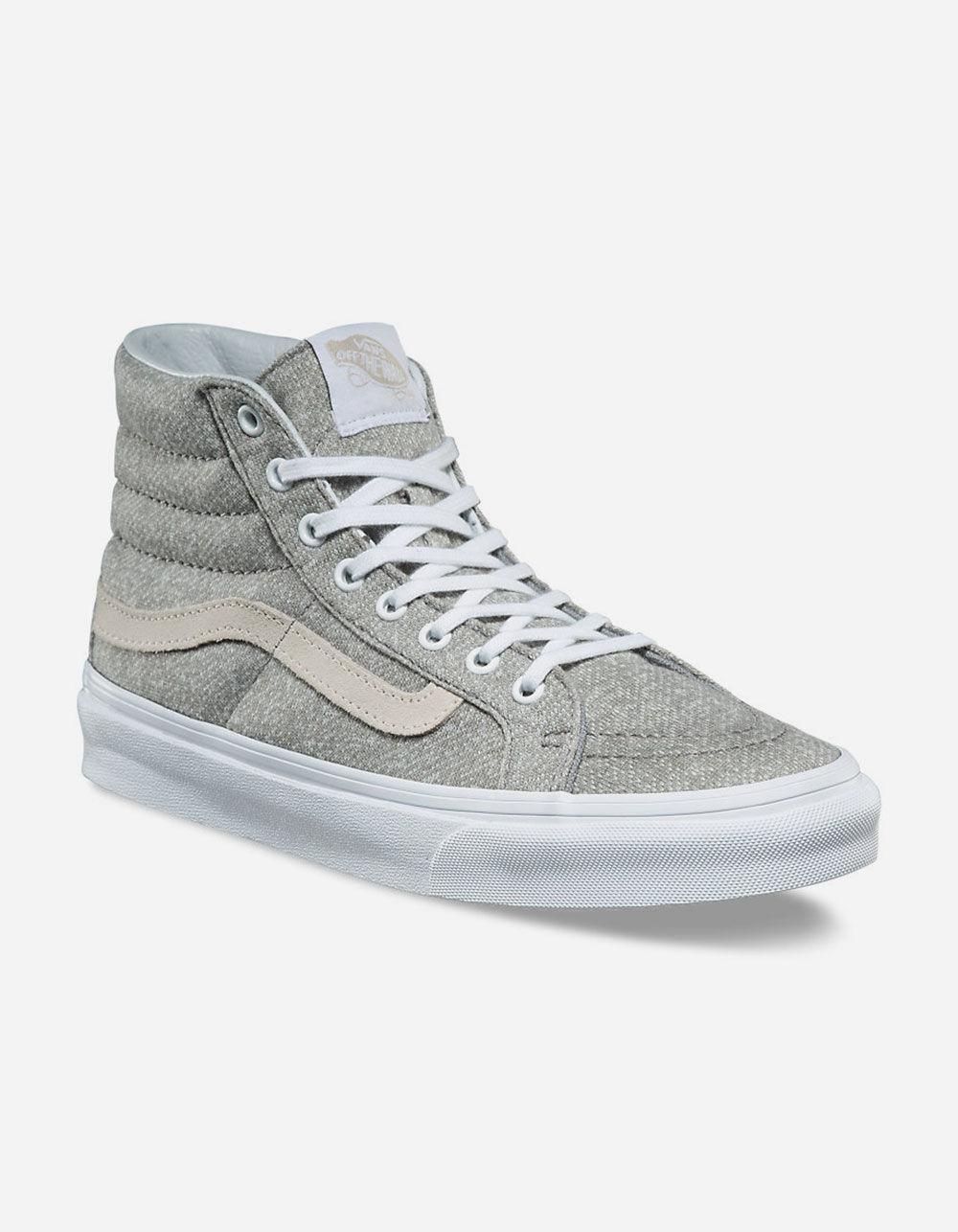 a39a8415ed06c Lyst - Vans J s Sk8-hi Slim Womens Shoes in Gray