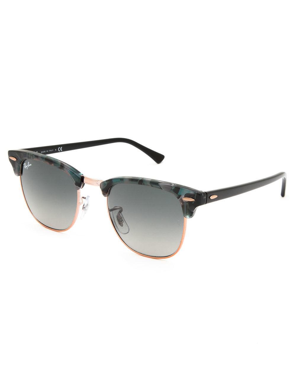5af5e46d40ecb Ray-Ban Clubmaster Fleck Spotted Gray   Green Sunglasses in Green - Lyst
