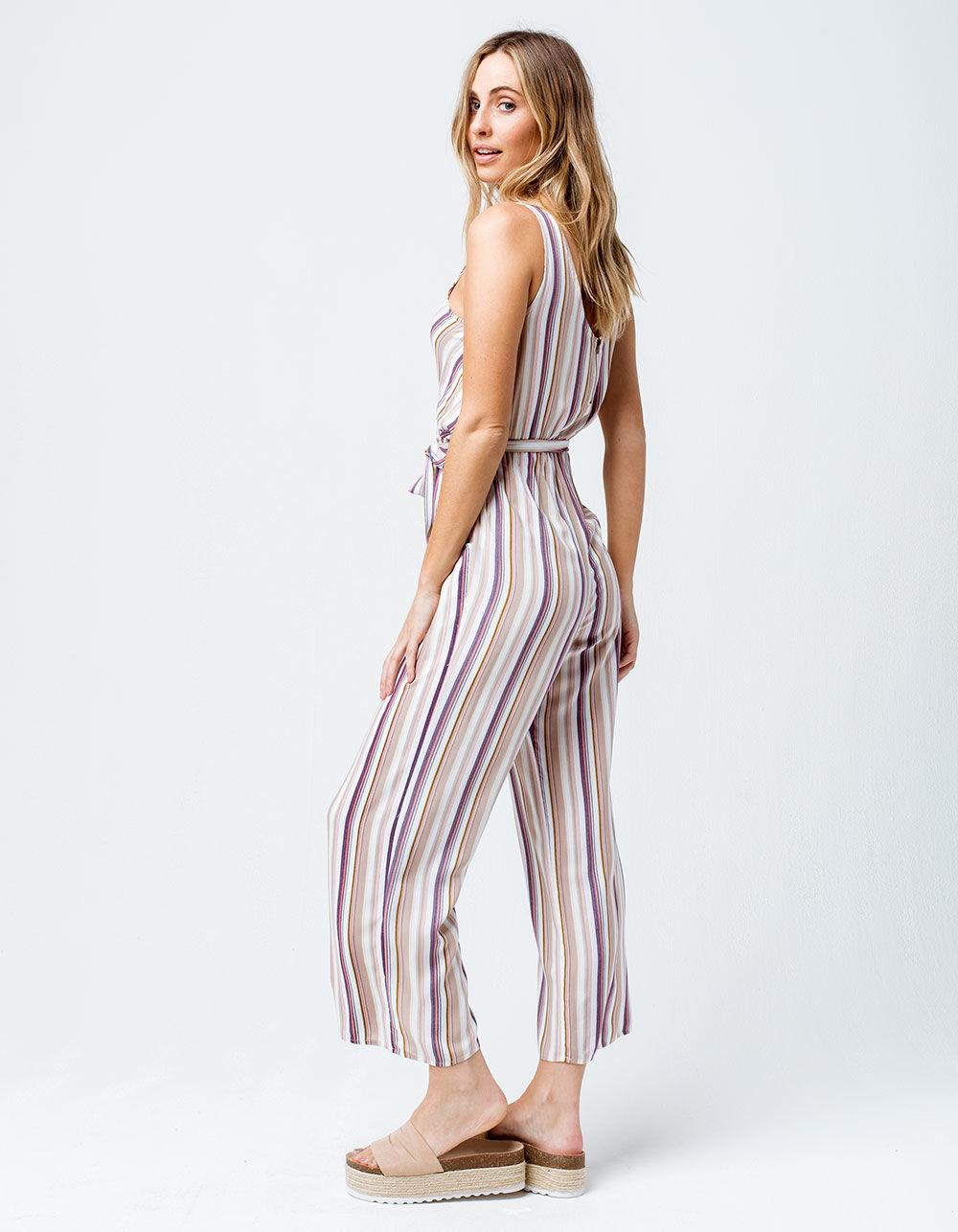 a4f596344354 Lyst - Mimi Chica Surplice Front Crop Womens Jumpsuit