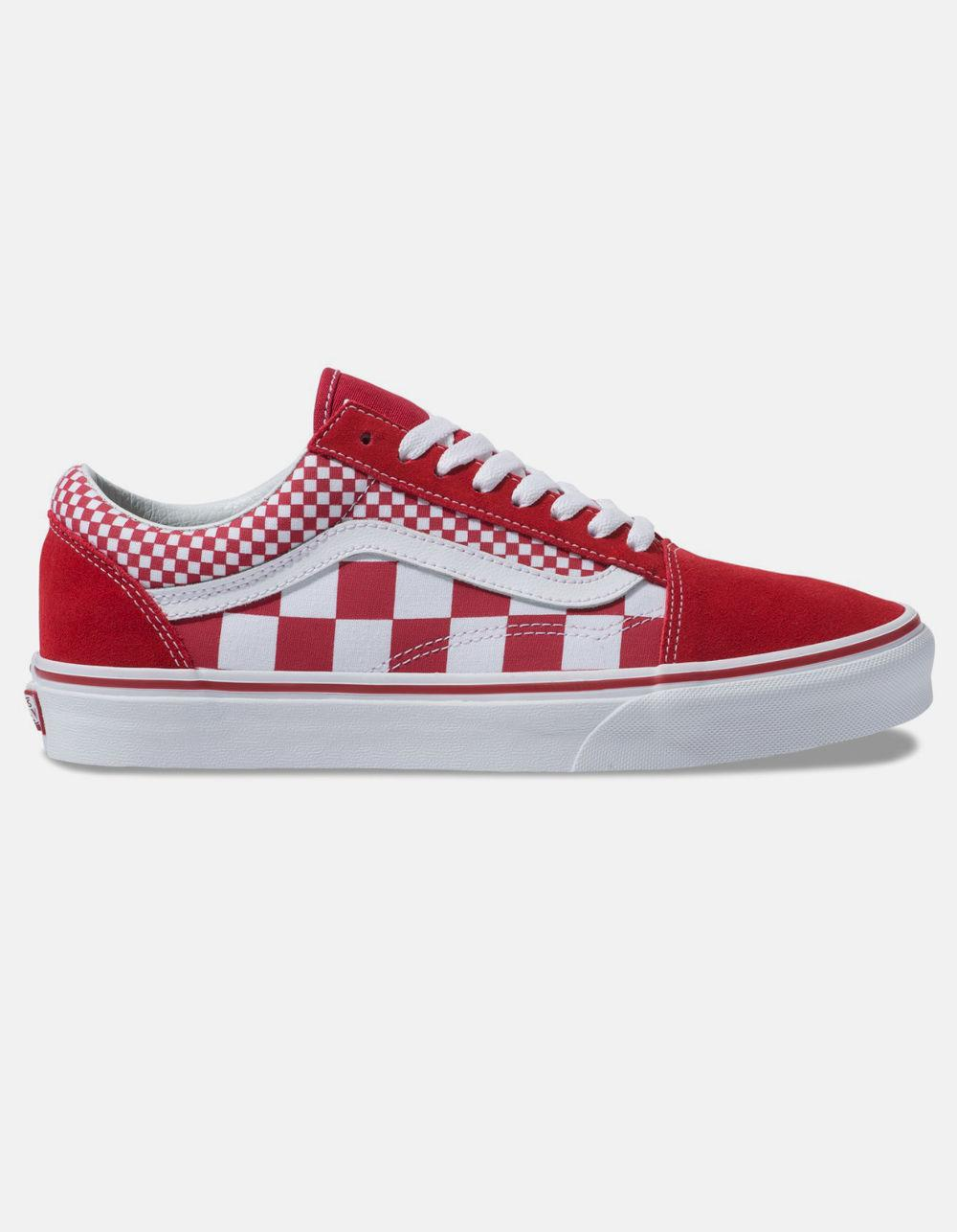 36b5560f7ef Lyst - Vans Mix Checker Old Skool Chili Pepper   True White Shoes in ...