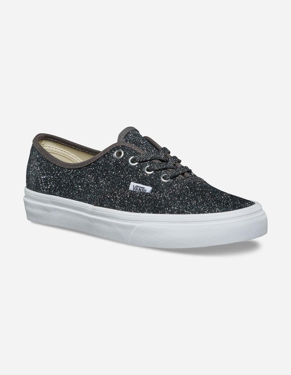 523fea2b2007 Lyst - Vans Lurex Glitter Authentic Black   True White Womens Shoes in Black