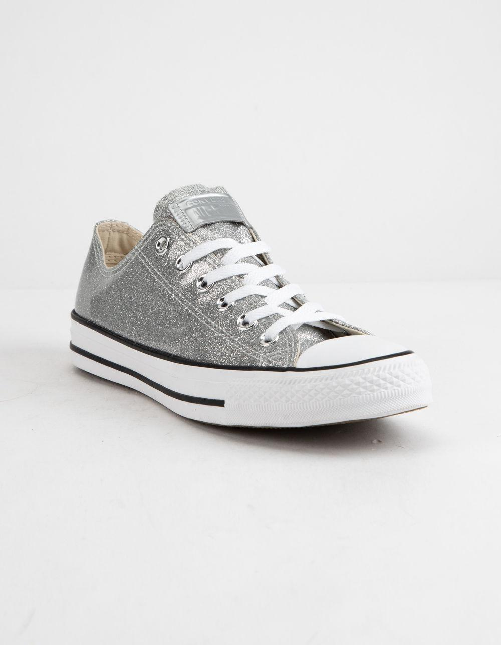 1857f08d1fea Lyst - Converse Chuck Taylor All Star Wonderworld Ox Silver   White Low Top  Women Shoes in White