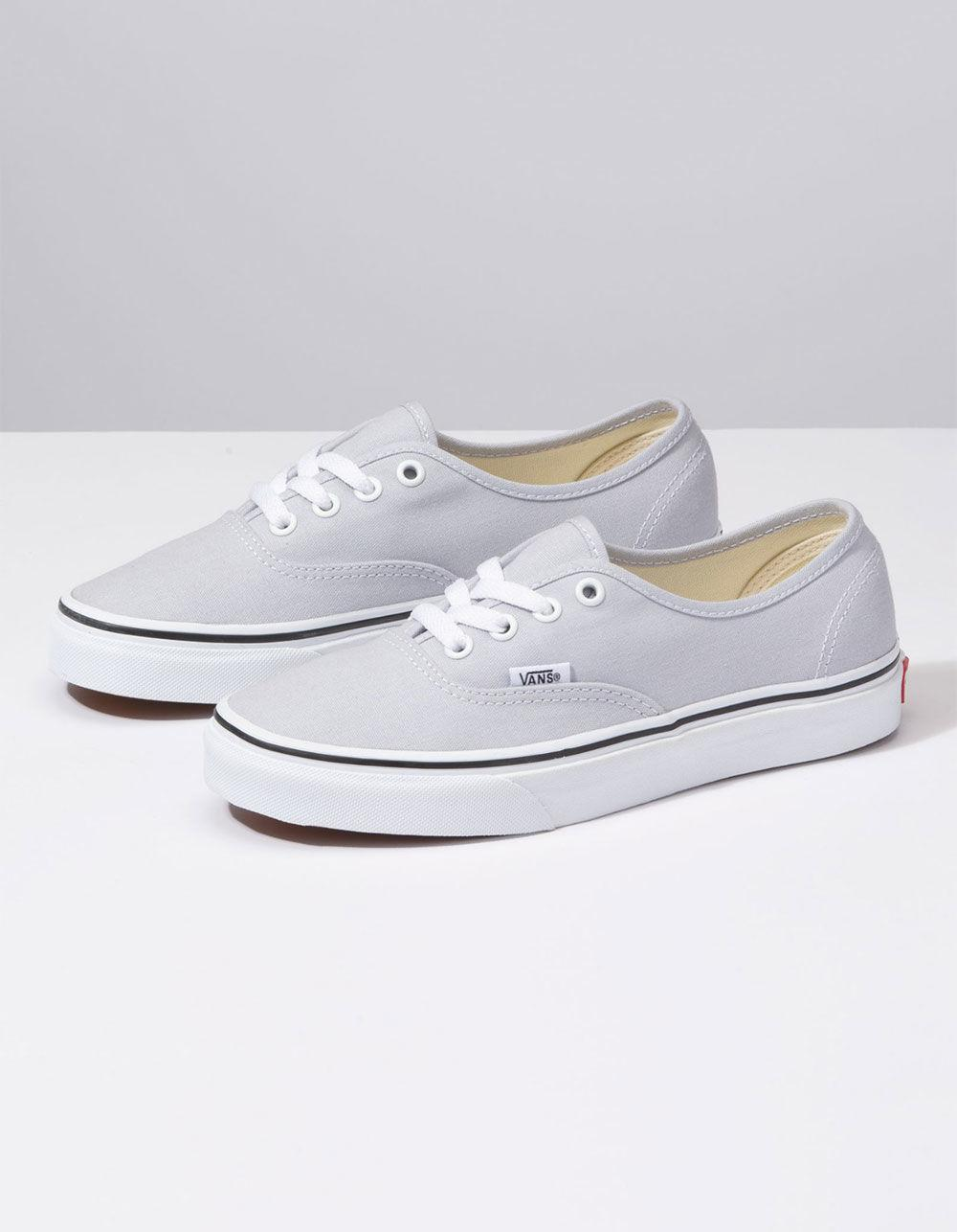 50add34a360a Lyst - Vans Authentic Gray Dawn   True White Womens Shoes in White
