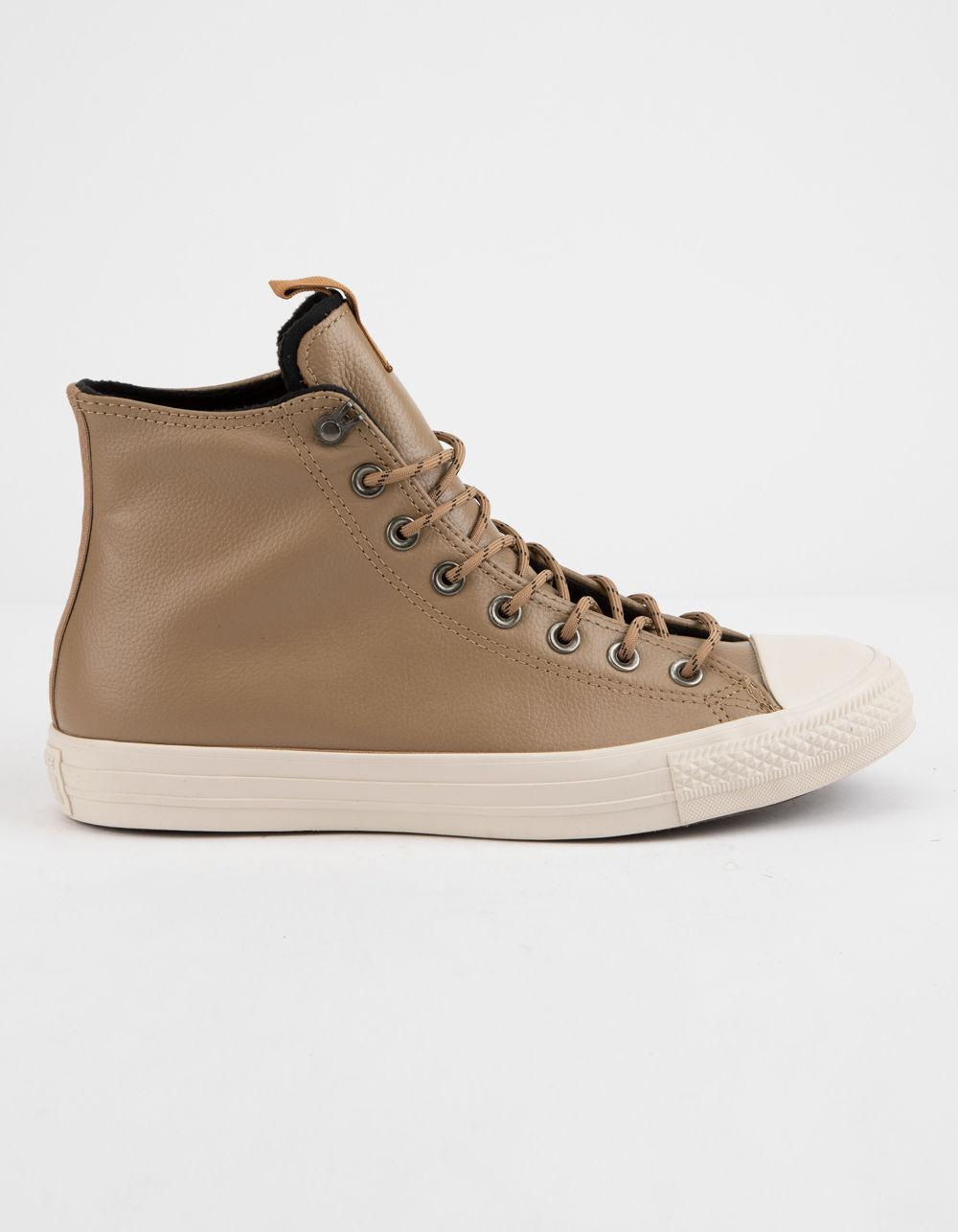 ee1c111baa54b0 Converse. Men s Chuck Taylor All Star Leather Teak   Driftwood High Top  Shoes