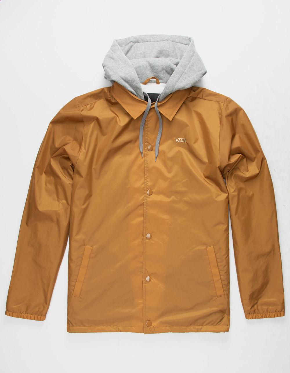 906a0ea81aa Lyst - Vans Riley Mens Hooded Coach Jacket in Brown for Men