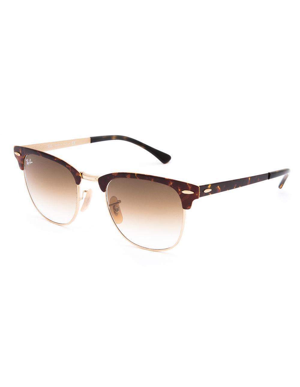 d2b1b1f1c6 Ray-Ban. Women s Clubmaster Metal Tortoise   Light Brown Gradient Sunglasses