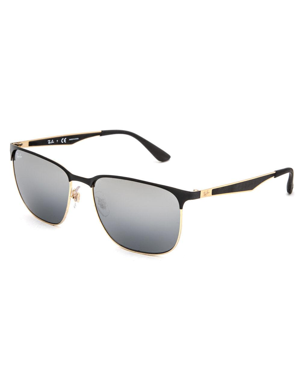 61858c162fa Lyst - Ray-Ban Clubmaster Sunglasses in Metallic for Men