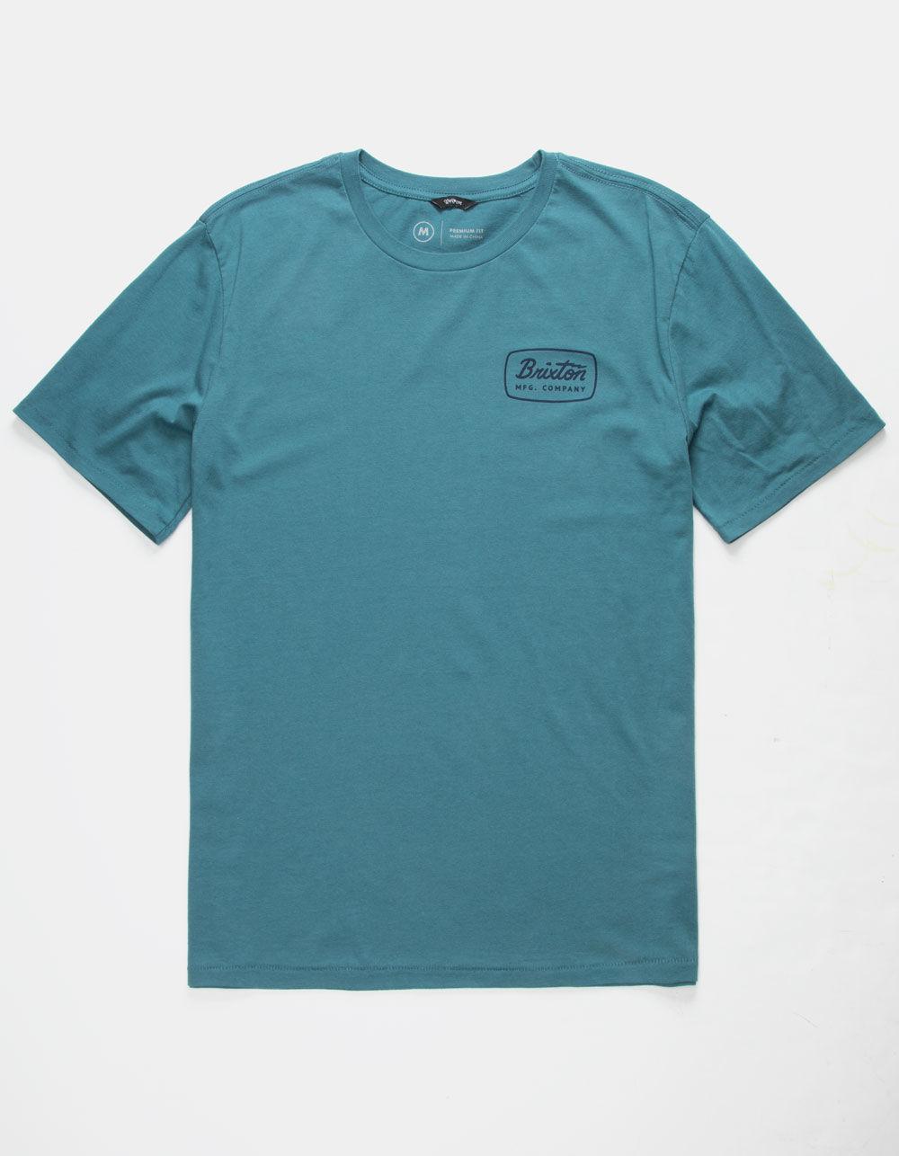 7f354f5f66b Lyst - Brixton Jolt Slate Blue Mens T-shirt in Blue for Men