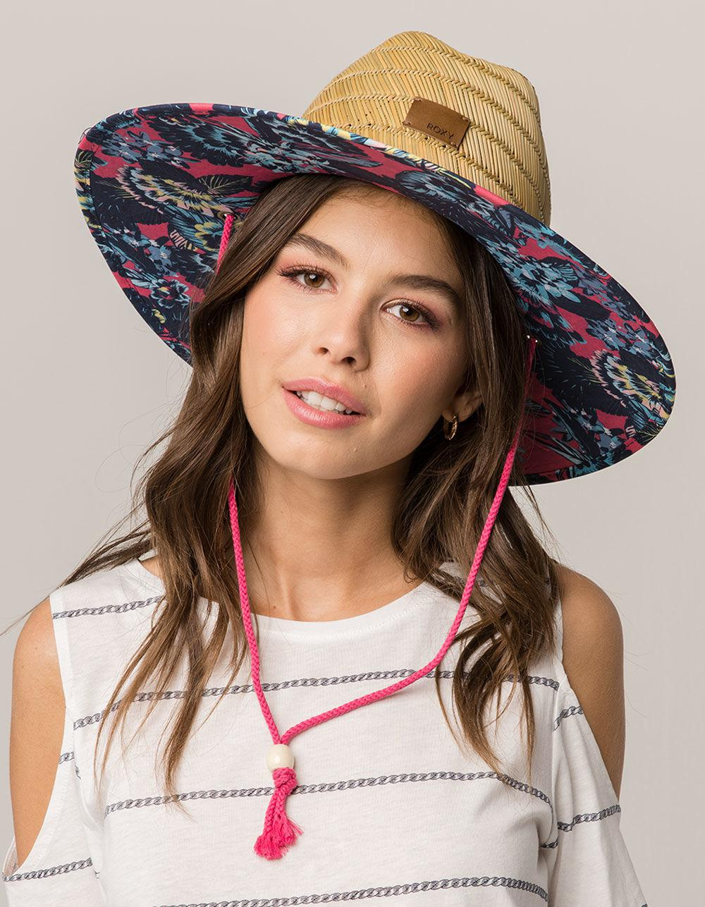 59603222a5c3b6 Roxy Tomboy Print Womens Lifeguard Hat in Pink - Lyst