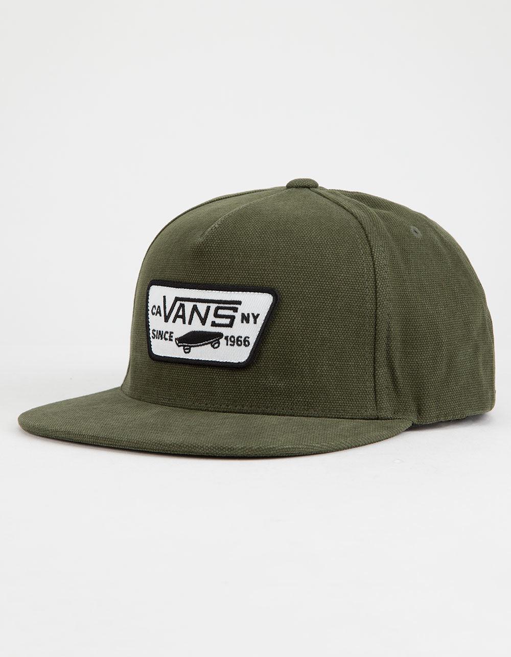 Lyst - Vans Full Patch Green Mens Snapback Hat in Green for Men 085569bdc66
