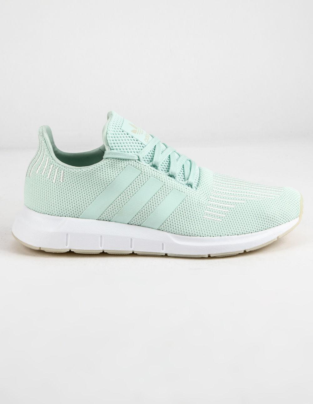 best sneakers 2b305 2e8dc adidas Swift Run Ice Mint & Off White Womens Shoes in White - Lyst