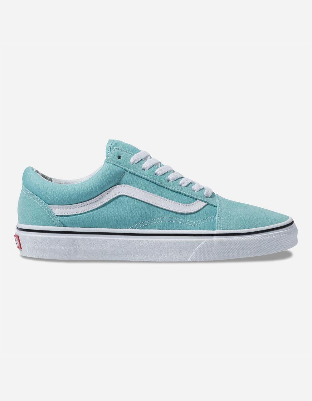 b2fb2cbbbbbae4 Vans. Women s Old Skool Aqua Haze   True White Shoes