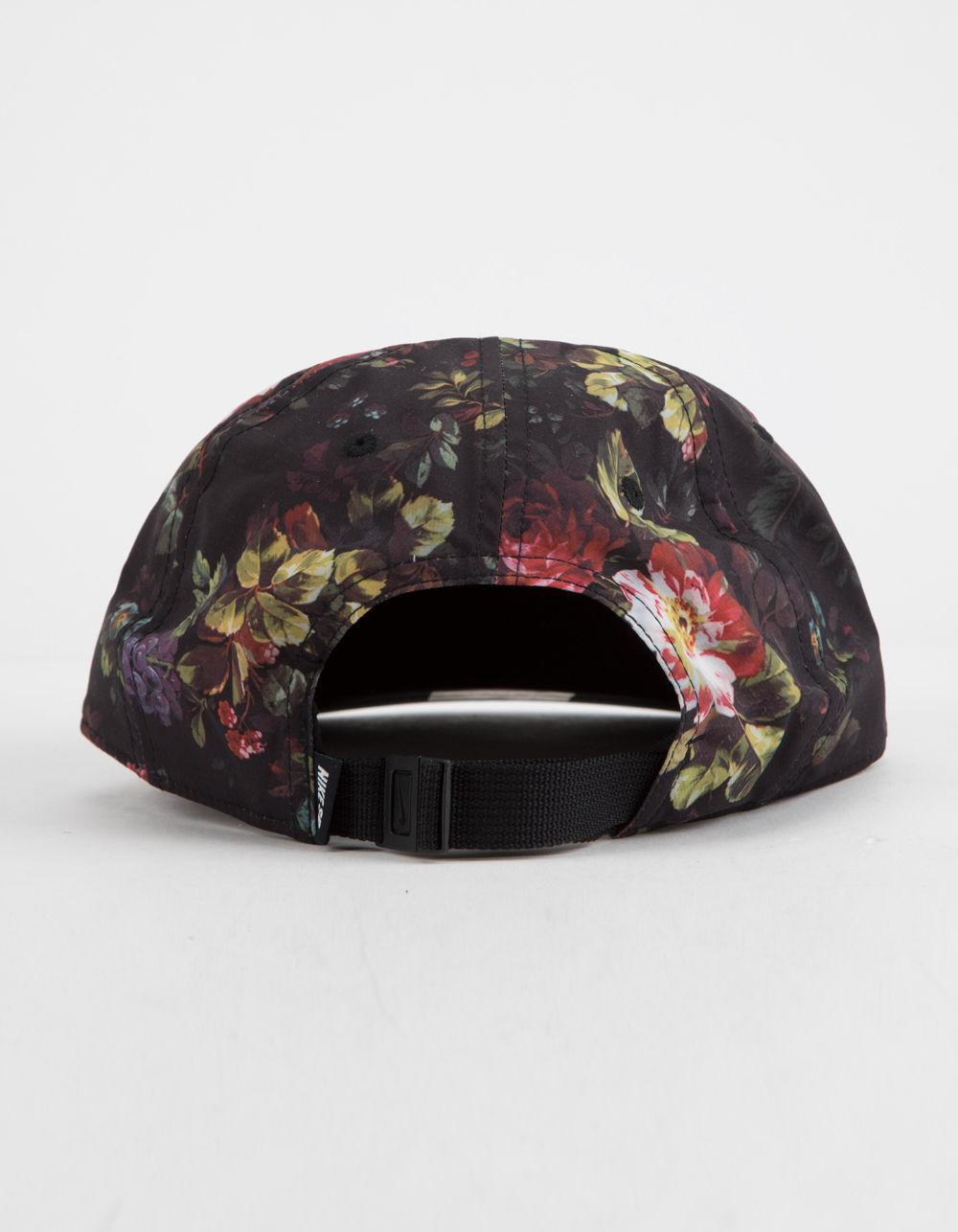 6a1375a54f Lyst - Nike Dri-fit Heritage 86 Floral Strapback Hat in Black for Men