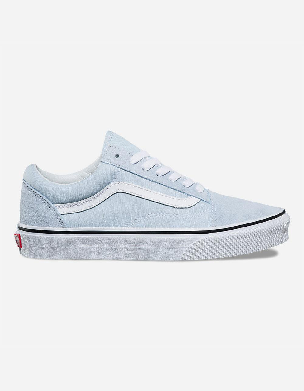 49c7c43b3f4d7d Lyst - Vans Old Skool Baby Blue   True White Womens Shoes in Blue