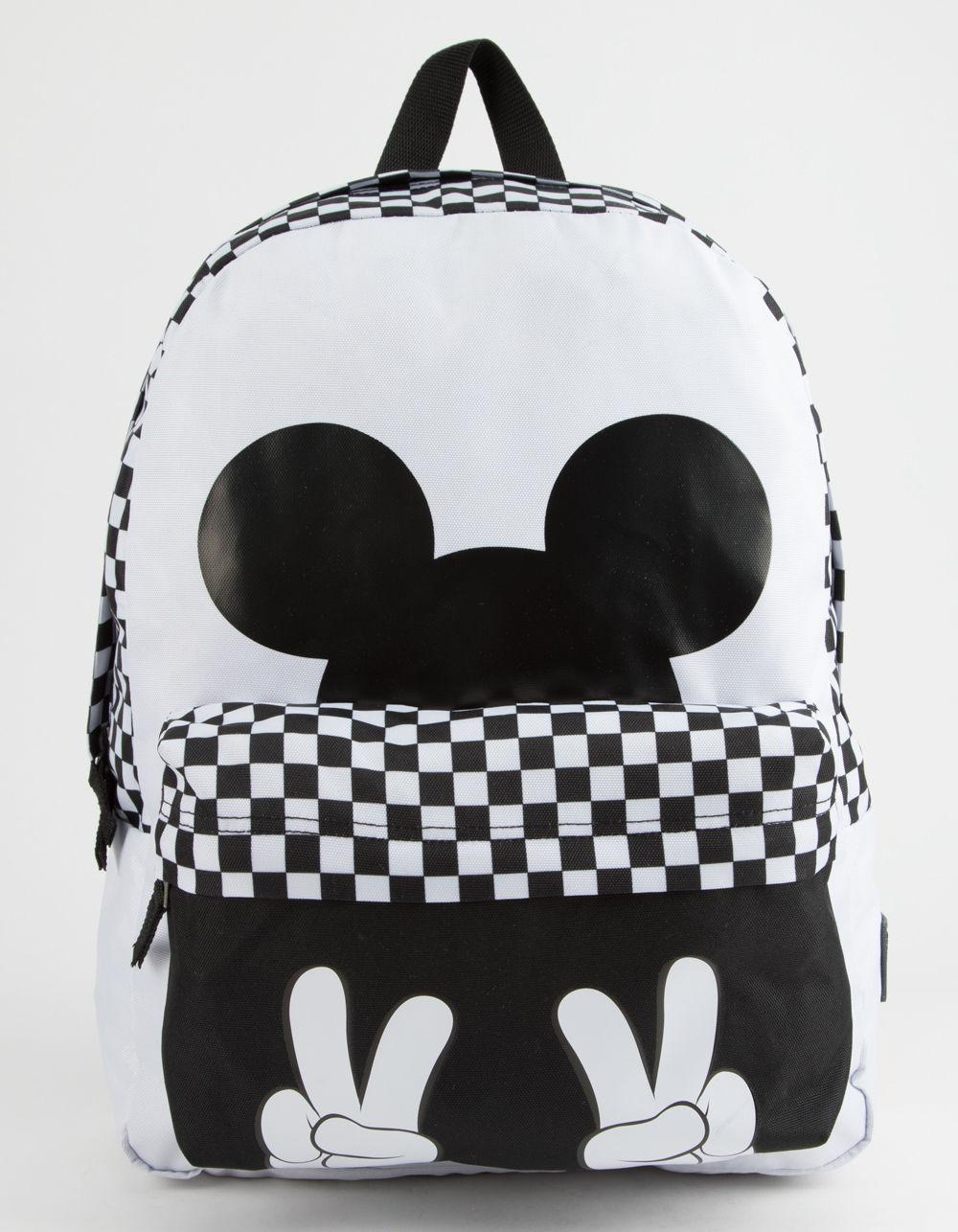 fa91ba0addc Lyst - Vans Mickey s 90th Checkerboard Mickey Realm Backpack (white ...