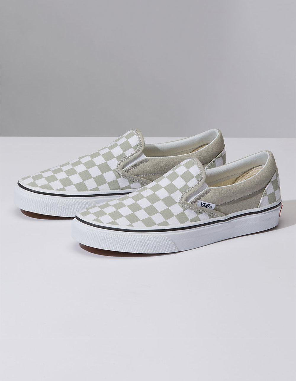 9f87192b07a750 Vans - Multicolor Checkerboard Classic Slip-on Desert Sage Womens Shoes -  Lyst. View fullscreen