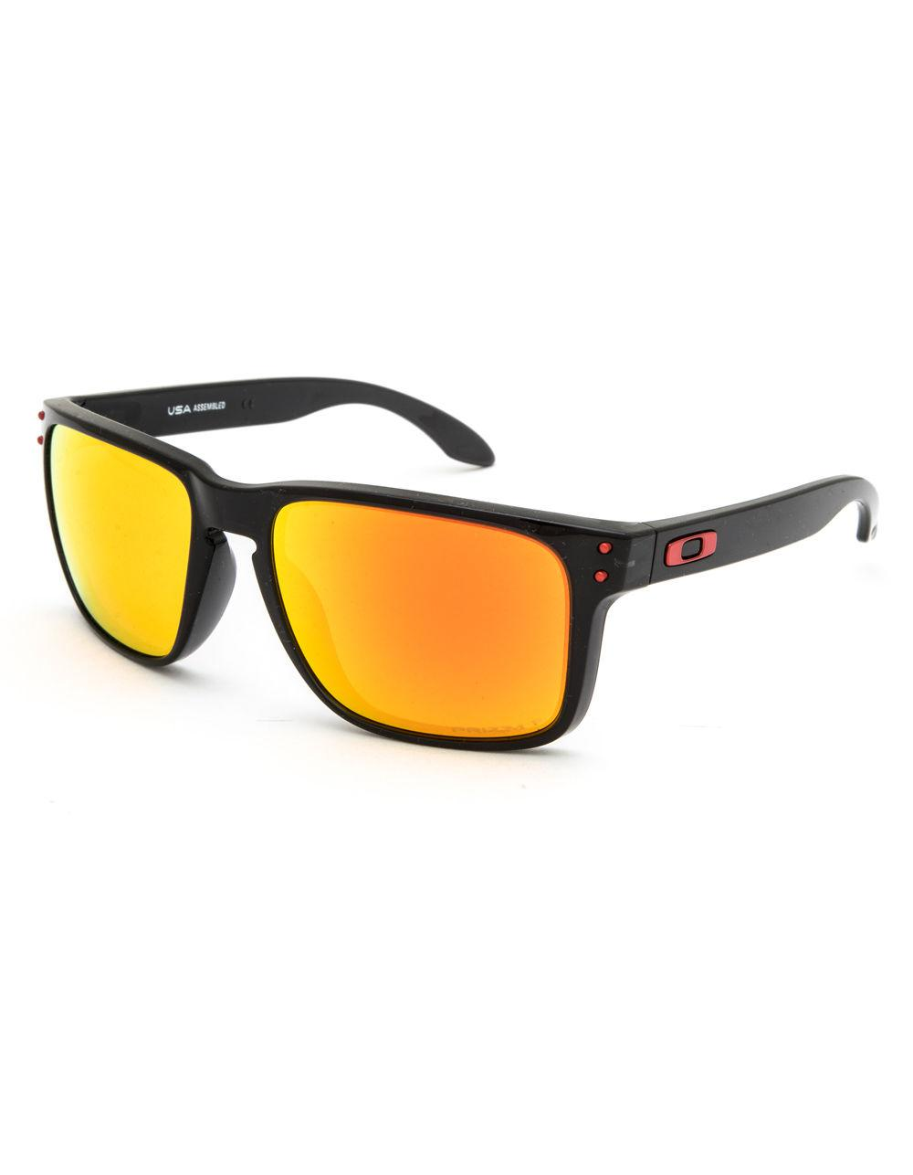 9c74ff6a71 Lyst - Oakley Holbrook Xl Black   Red Sunglasses in Black for Men