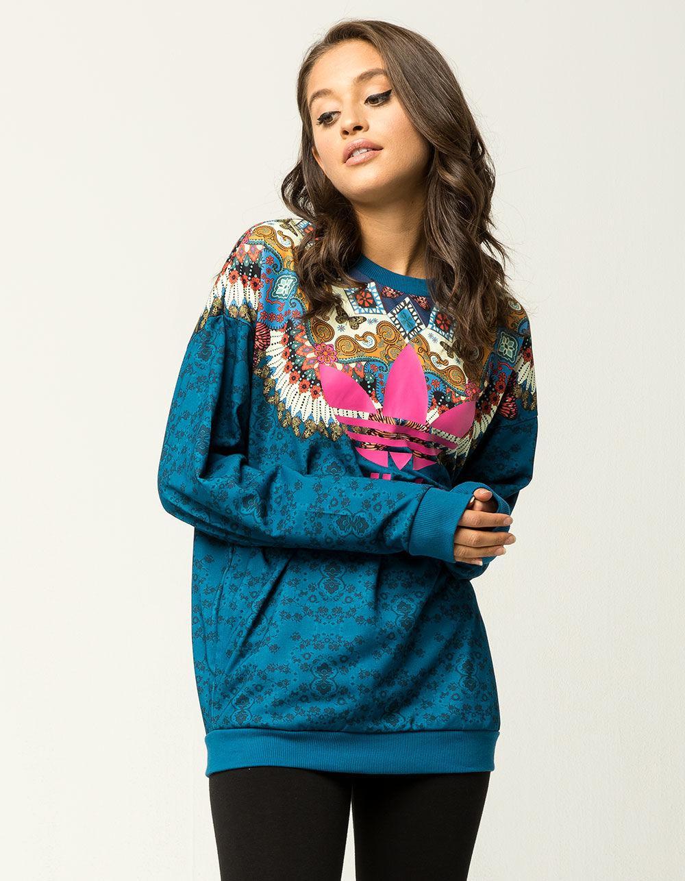 2d9419496d0 adidas Borbomix Womens Sweatshirt in Blue - Lyst