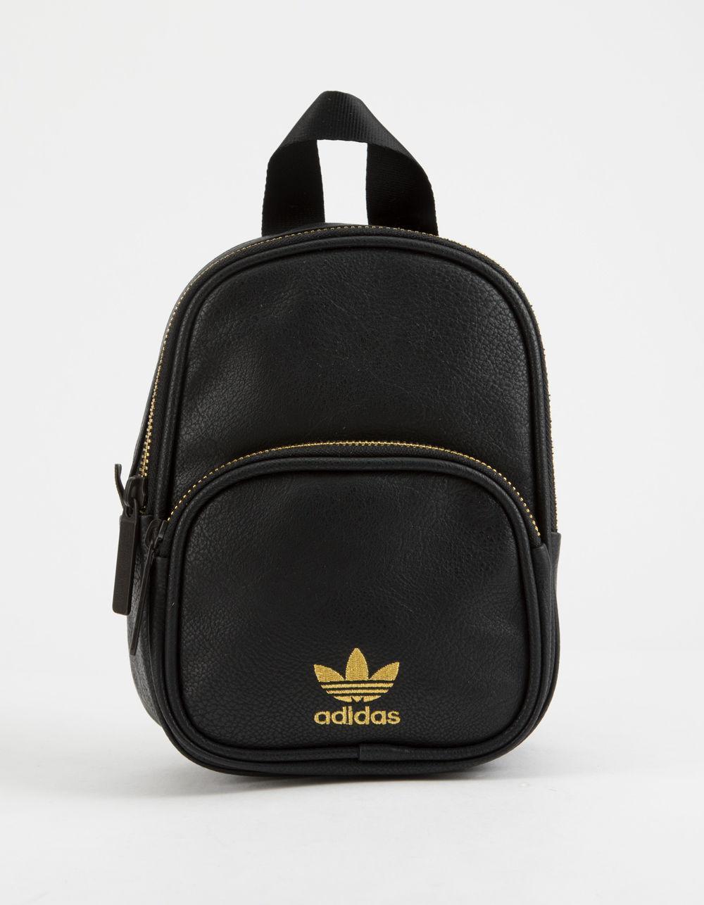 c75bd221d6 Adidas - Originals Faux Leather Black Mini Backpack - Lyst. View fullscreen