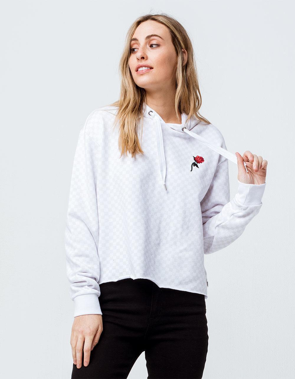e8a28e4def944a Lyst - Vans Leila Check Hoodie (white Checkerboard) Women s Clothing ...