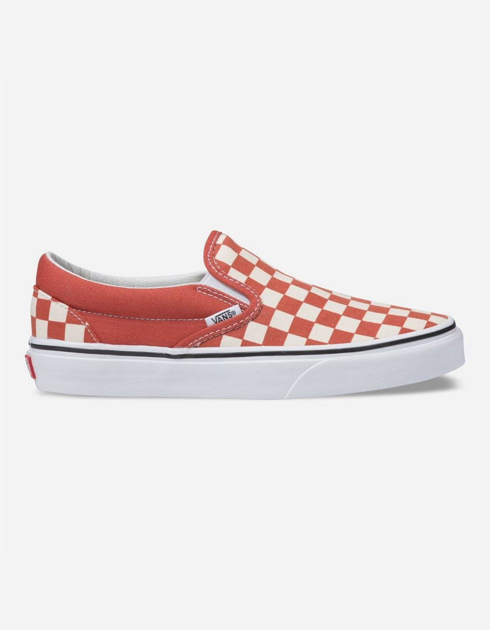 dc81d326c443 Lyst - Vans Checkerboard Classic Slip-on Hot Sauce   True White ...
