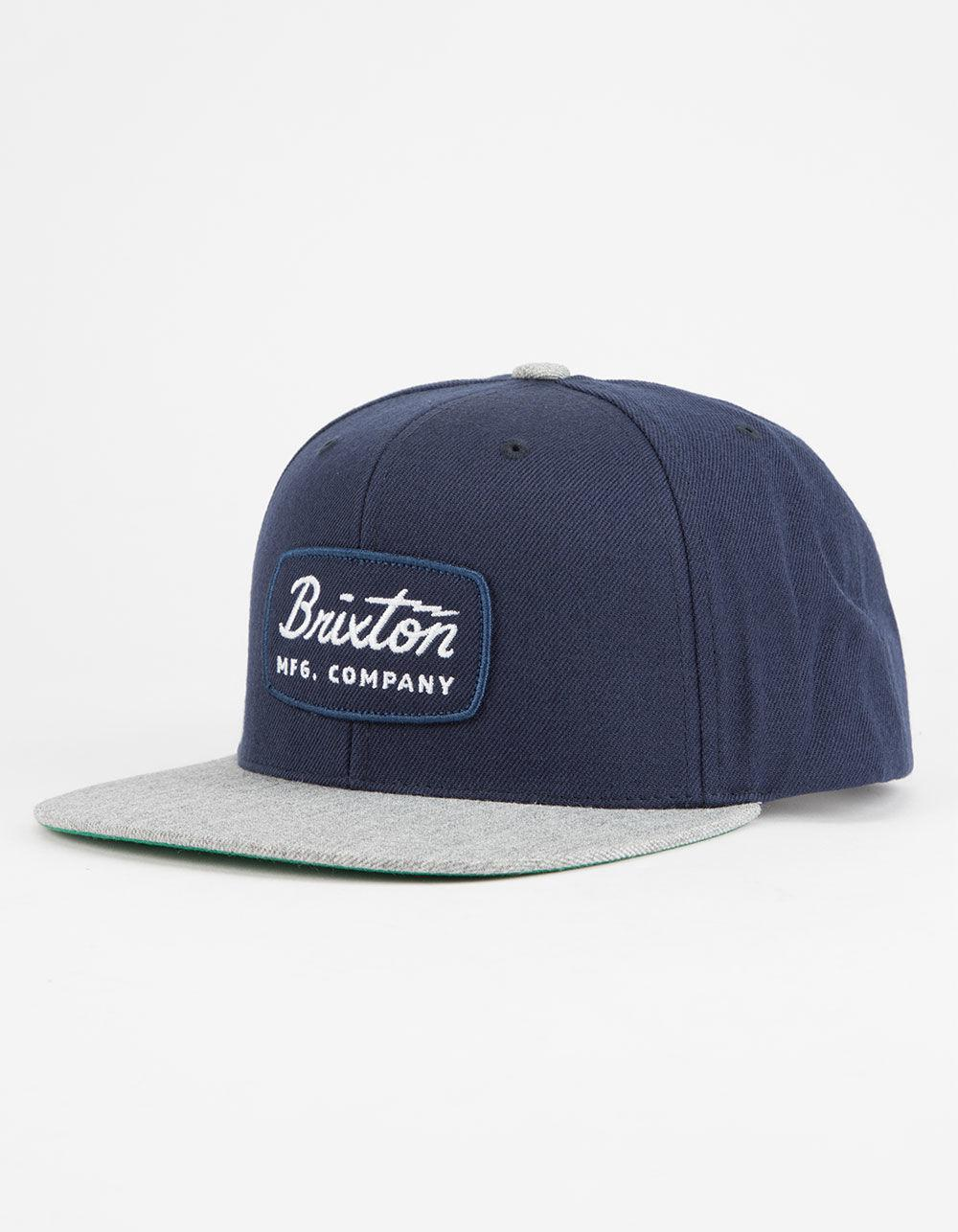 318462139ca Lyst - Brixton Jolt Navy   Grey Mens Snapback Hat in Blue for Men