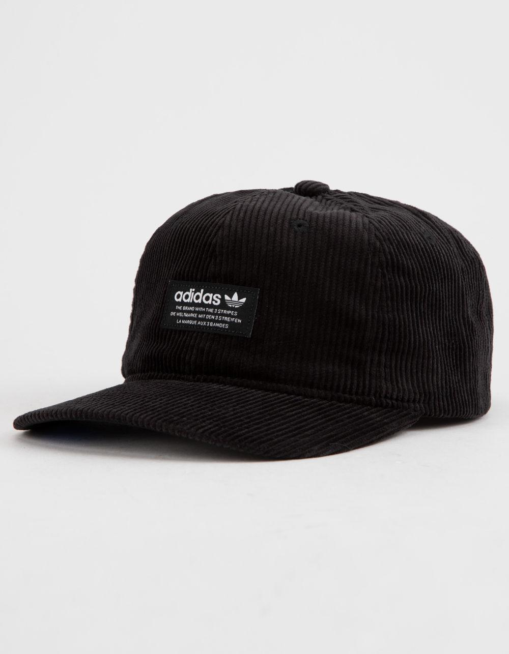 6b2bdb733af Adidas - Originals Relaxed Wide Wale Corduroy Black Mens Strapback Hat for  Men - Lyst. View fullscreen