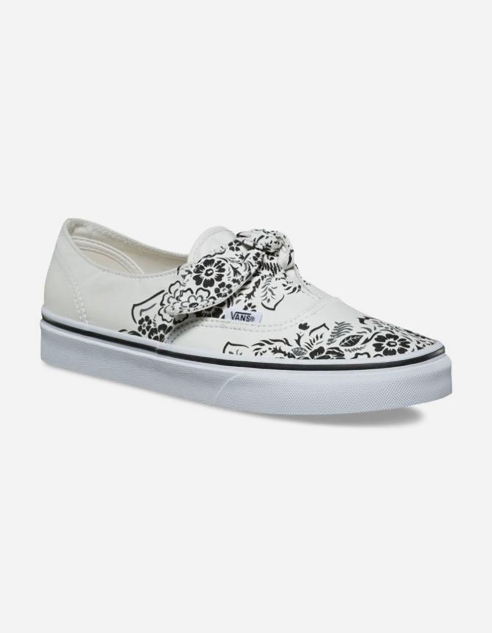 bdfdf718996 Lyst - Vans Authentic Floral Bandana Knotted Marshmallow Womens Shoes