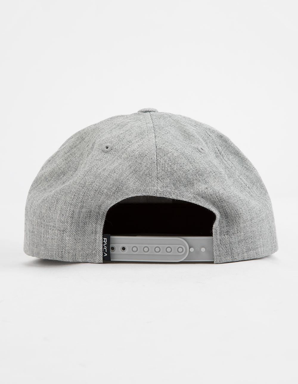 4b14cf7a624 Lyst - Rvca Pace Structure Heather Gray Mens Snapback Hat in Gray for Men