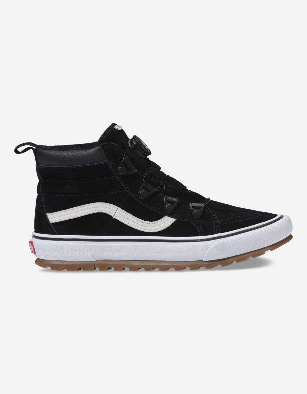 4bc7c219786cde Lyst - Vans Sk8-hi Mte Boa Black   True White Shoes in Black for Men