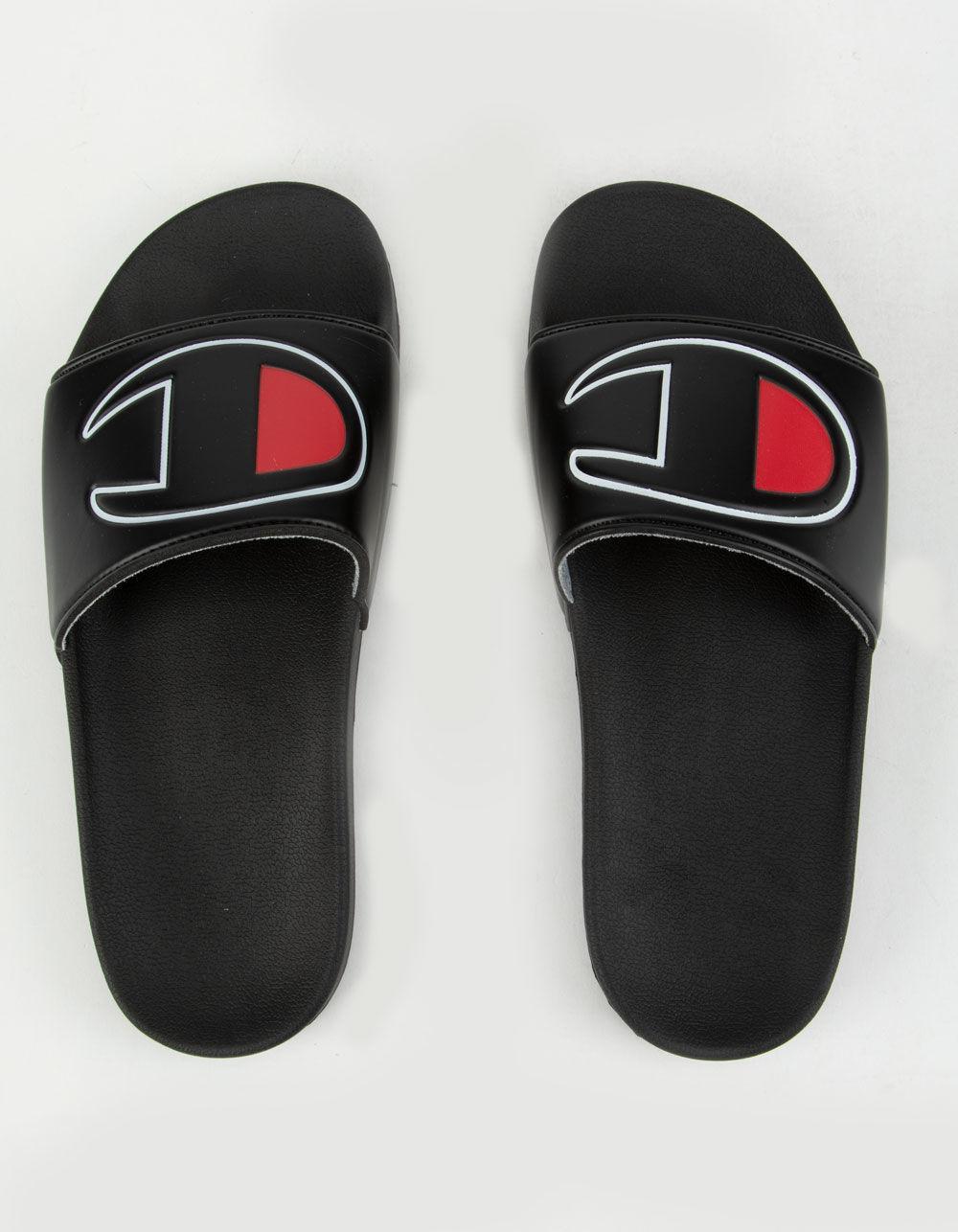 f8ea492aa7b Lyst - Champion Black Ipo Slides in Black - Save 15%
